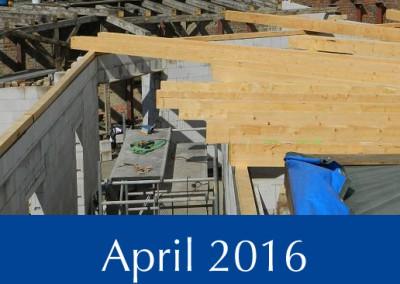 Bautenstand Täubchenweg 1 im April 2016