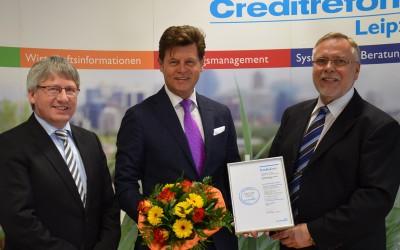 """LIMES Wohnbau GmbH mit Creditreform Bonitätszertifikat """"CrefoZert"""" ausgezeichnet"""