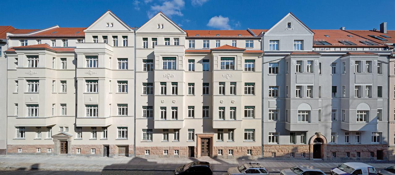 Das Dreierensemble Krokerstraße 22, 24 und 26 stellt ein wertvolles Denkmalensemble dar.