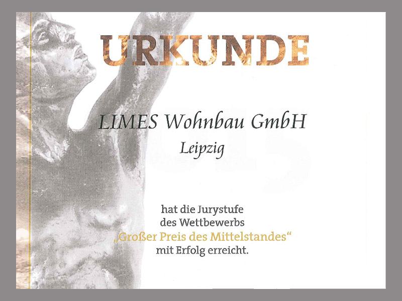 """LIMES LEIPZIG® erreicht Juryrunde """"Großer Preis des Mittelstandes"""""""