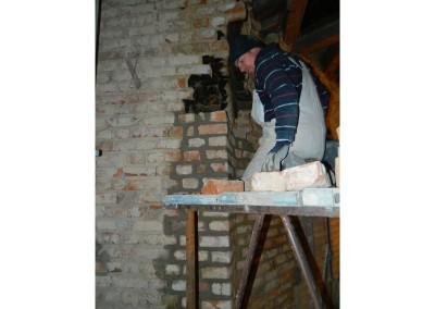 Ausmauern überzähliger Schornsteinzüge