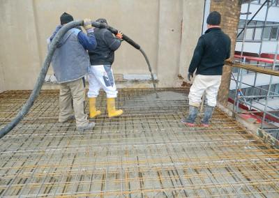 Beginn der Betonierarbeiten