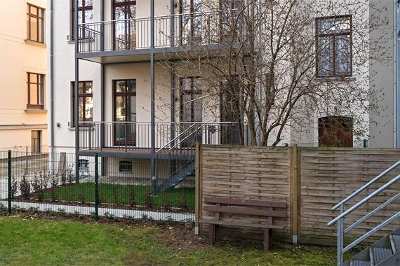 Wettiner Straße 10 - Wohnung 01 - Gartenansicht
