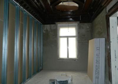 Innenputz und Trockenbau in einem Wohnraum