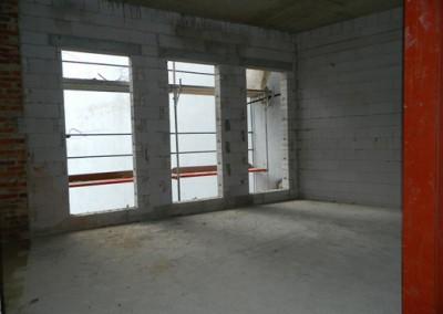zukünftiger Wohnbereich im neu aufgestockten Gebäudeteil