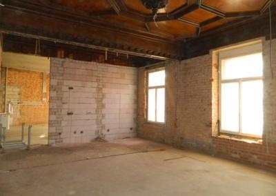 Aufmauerung von neuen Innenwänden im I.OG