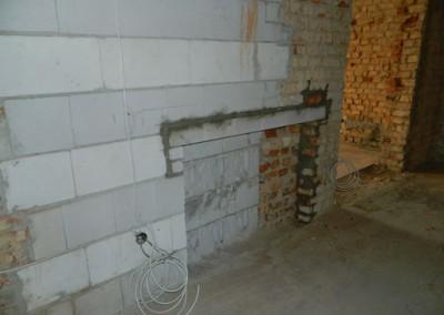 Wandnische für den Einbau der Heizkreisverteiler der Fußbodenheizung