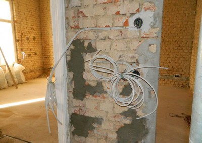 Rohinstallation der Elektroleitungen