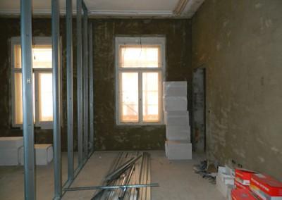 weiterführender Trockenbau in einem Wohnraum