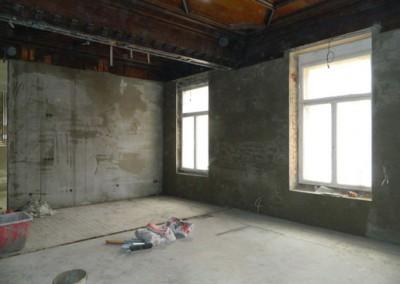 Wohnraum mit neuem Innenputz