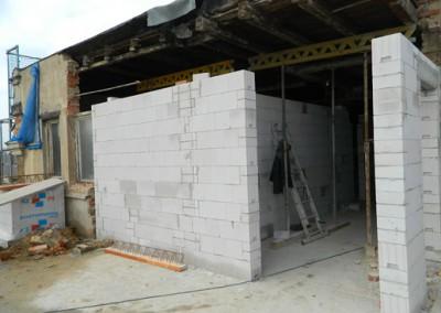 Ansicht der neuen Innenwände im Dachgeschoss