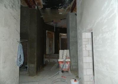 neuer Innenputz im Erdgeschoss