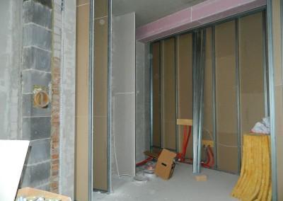 Trockenbau in einer Wohnküche