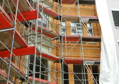 Aufarbeitung der Hoffassade