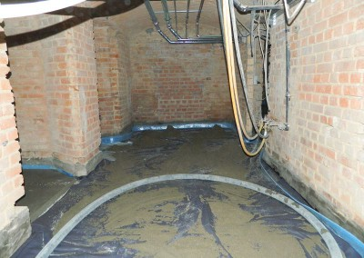 Vorbereitung des Kellers zum Betonieren