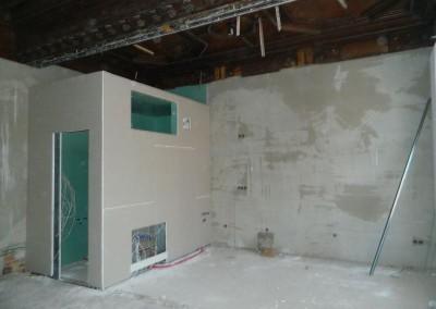 Trockenbau in einer Nasszelle in einer 1,5-Zimmer-Wohnung