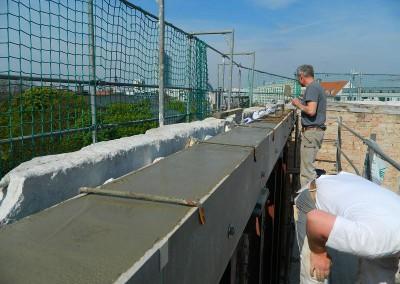 Ausbetonieren des Ringbalkens im Dachgeschoss