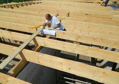 weiterführende Zimmermannsarbeiten am Dach