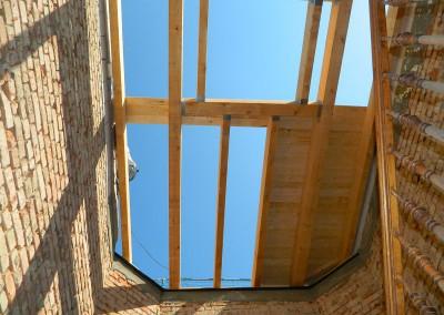 Dacheindeckung des Treppenhauses im Täubchenweg