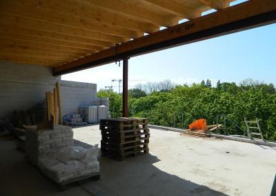 Blick auf die zukünftige Dachterrasse