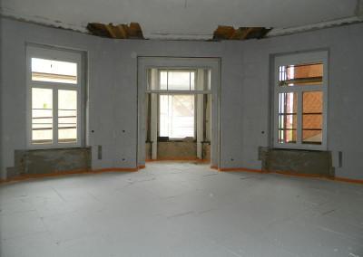 Erkerzimmer mit ausgelegter Trittschalldämmung