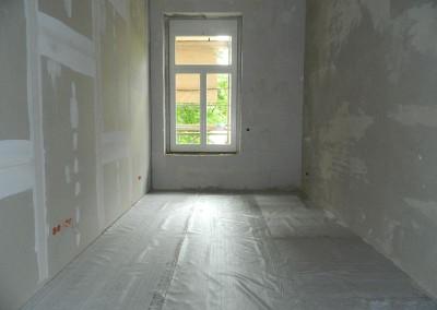 vorbereiteter Wohnraum für den Einbau der Trittschalldämmung