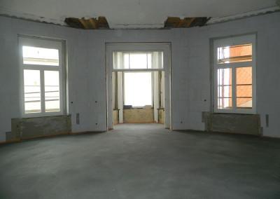 Erkerzimmer mit neuem Estrichfußboden