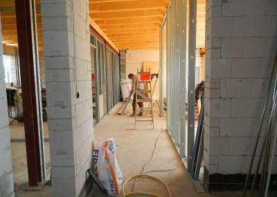 Aufbau des Ständerwerkes für die Trockenbauwände im Dachgeschoss