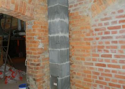 Neuer Schornsteinzug für den Anschluss von Kaminen in den Wohnquartieren