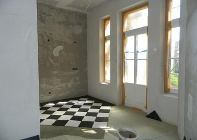 Fliesenfußboden in einer Küche