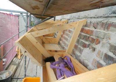 Neubau des straßenseitigen Traufkastens