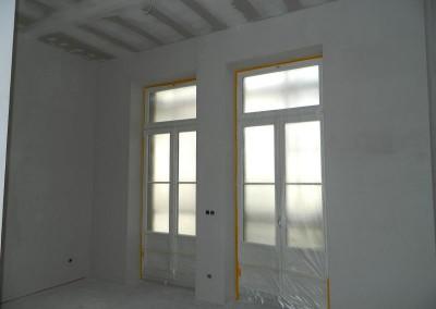 Voranstrich in einem Wohnraum