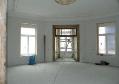 Erkerzimmer mit malermäßigem Voranstrich