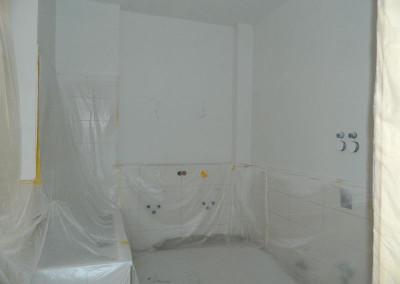 Hauptbad nach den Malerarbeiten