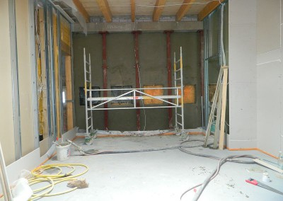 Neuer Innenputz und Trockenbau in einer Dachgeschosswohnung