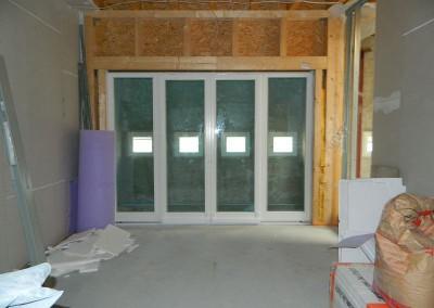 Ansicht der eingebauten neuen Loggiafenster