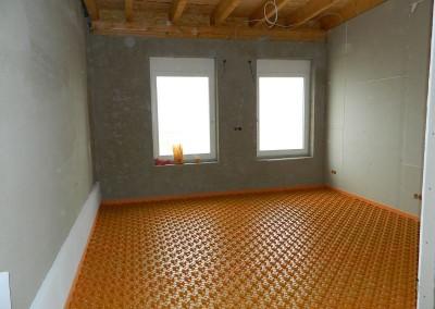Raum mit ausgelegter Noppenbahn