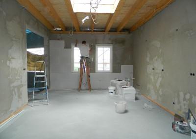 Verkleidung einer Wand mit Multipor-Innendämmung