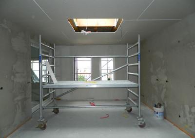 Trockenbau desselben Raumes in der Dachgeschosswohnung