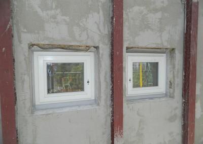 Ansicht der eingebauten Attikafenster