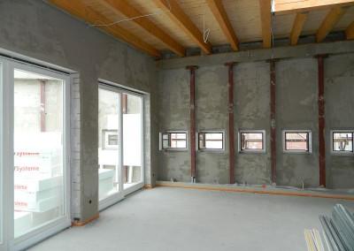 Ansicht der eingebauten Atriumfenster