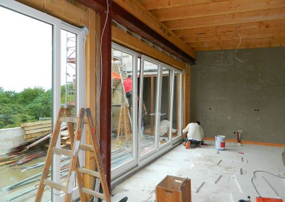 Einbau der Dachterrassenfenster