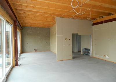Ansicht der Wohnküche in einer Dachgeschosswohnung