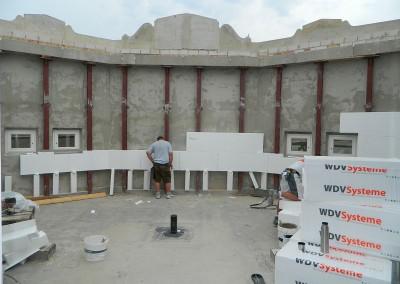 WDVS-Dämmung im Bereich Atrium/ Galerie