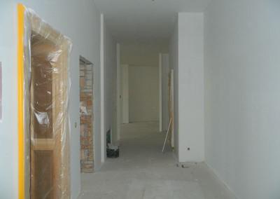 Malermäßige Aufarbeitung der Wände