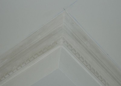 Detailansicht des neu eingebauten Stucks