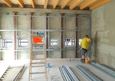 weiterführender Trockenbau im Dachgeschoss