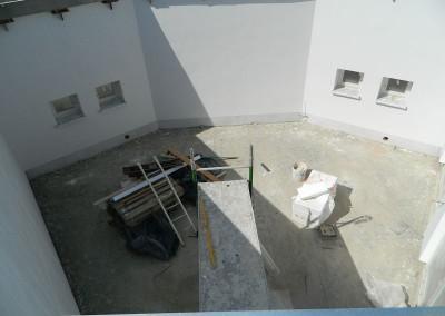 das Atrium vom Dach aus gesehen