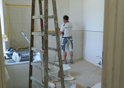 weiterführende Malerarbeiten im I. Obergeschoss