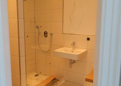 Einbau der Sanitärkeramik